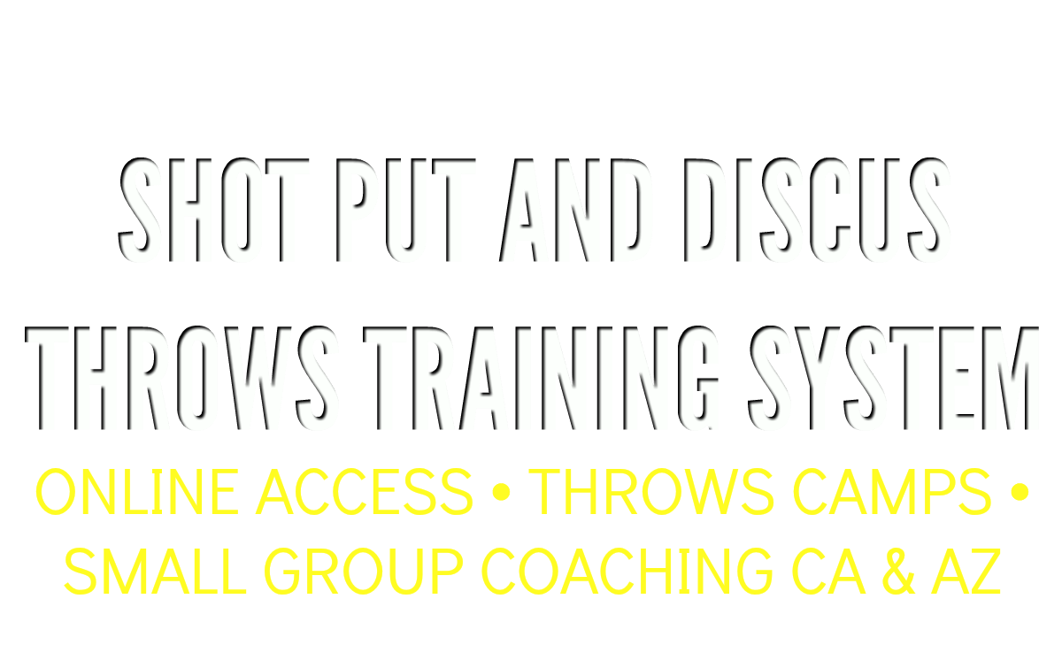 online shot put and discus training system online drills throws system drills courses