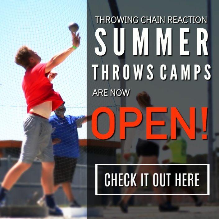 summer shot put discus throws camp arizona california texas illinois
