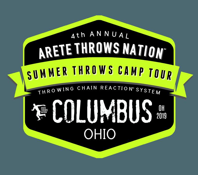 shot put and discus throws summer camp columbus ohio