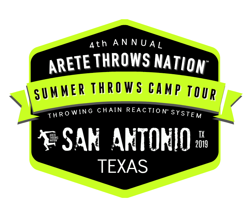 shot put discus summer throws camp San Antonio Texas