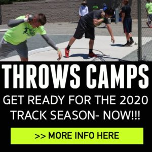 shot put and discus throws camps 2020