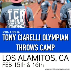 shot put and discus throws camp feb 2020 So Cal