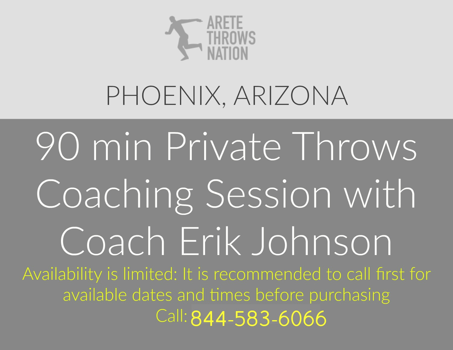 90 min throws coaching phoenix arizona