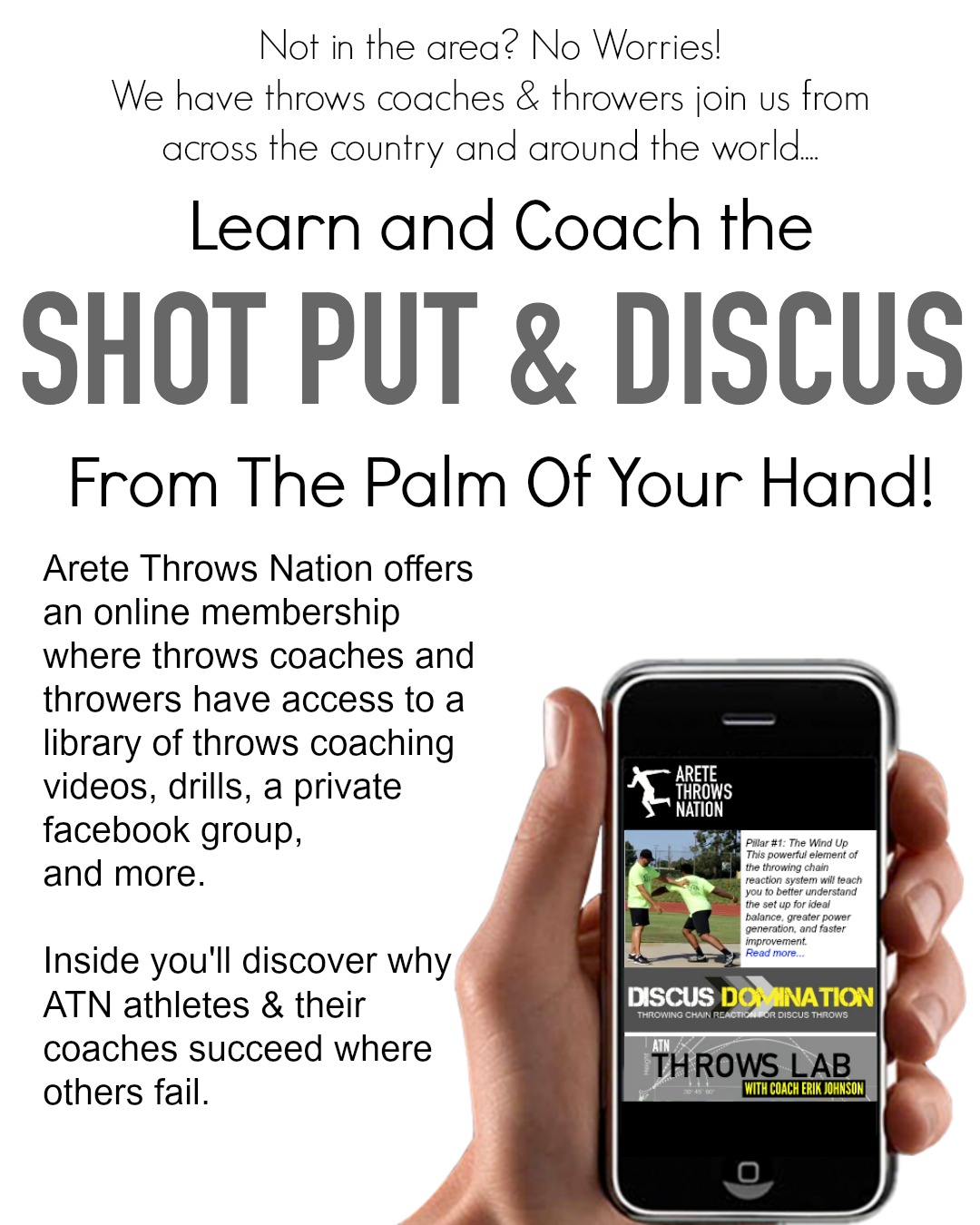 shot put discus coaching online technique