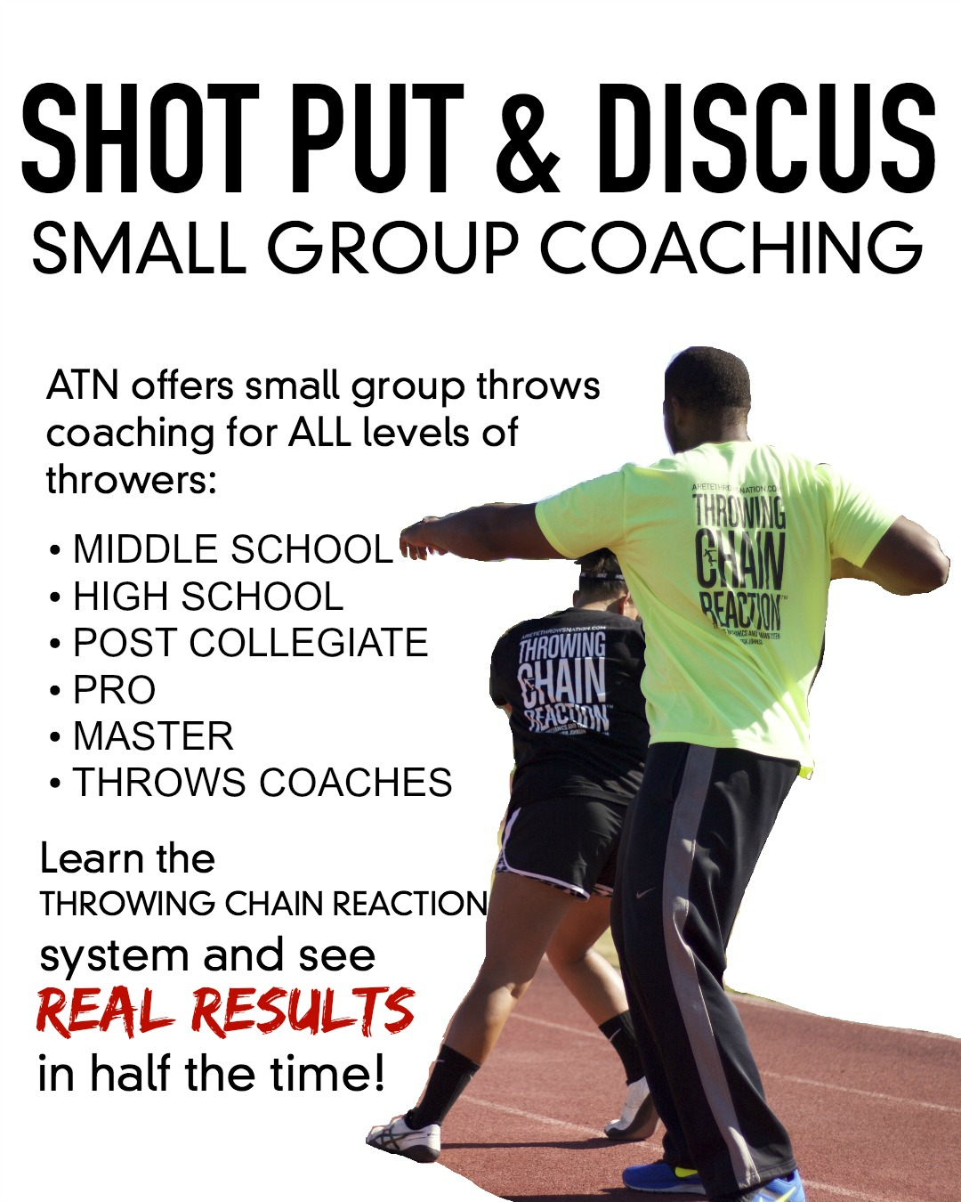 shot put discus coaching california and arizona