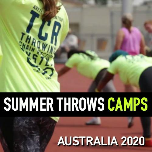 shot put and discus throws summer camps Melbourne Brisbane Sydney Australia