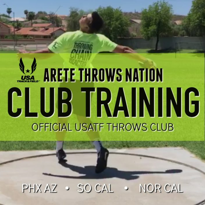 shot put and discus club training and coaching arizona california