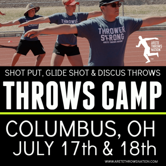 2021 summer shot put and discus throws camp