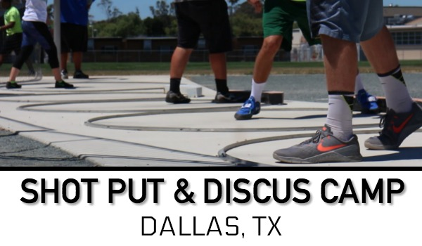 shot put discus throws camp dallas texas