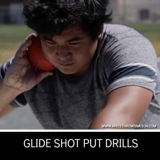 glide shot put drills technique coaching