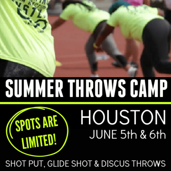 2021 summer shot put and discus throws camp texas