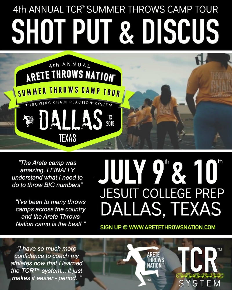 shot put and discus throws summer camp dallas texas