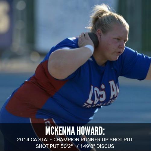 MCkenna howard shot put discus