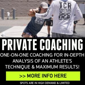 private shot put and discus throws coaching
