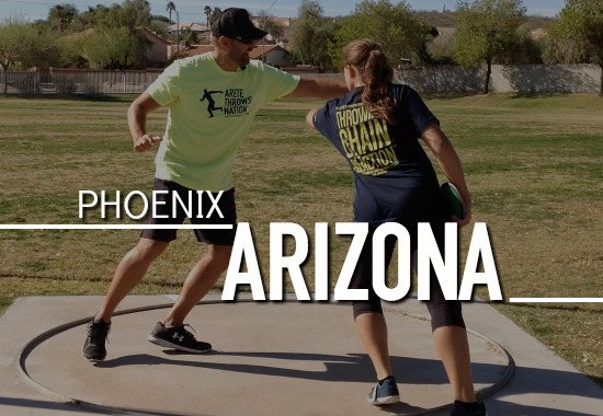 shot put and discus throws coaching phoenix az scottsdale mesa glendale peoria gilbert buckeye