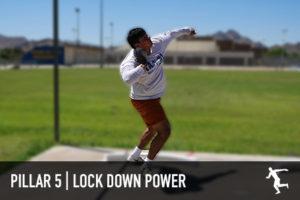 Shot put lock down power