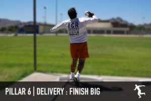 Shot put delivery