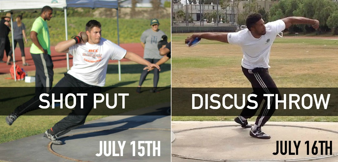 shot put discus hammer track and field throws summer camp