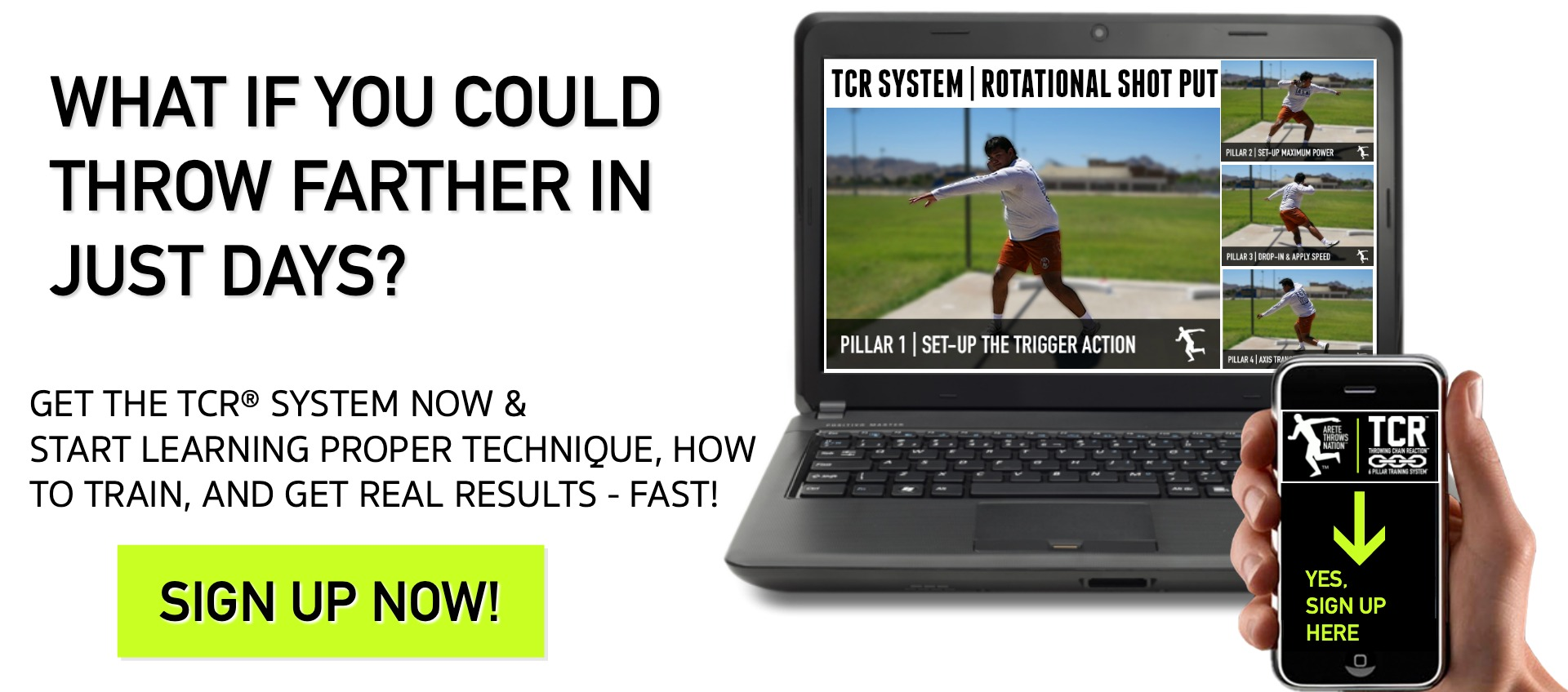 shot put and discus technique coaching system