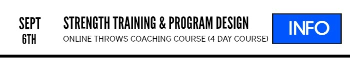 shot put and discus strength training and program design online course