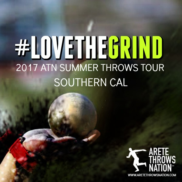 shot put discus summer throws camp so cal orange county 2018