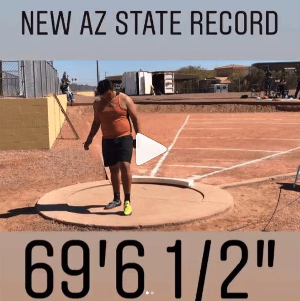 tyson jones Arizona State Record Holder Shot Put Arete Throws Nation