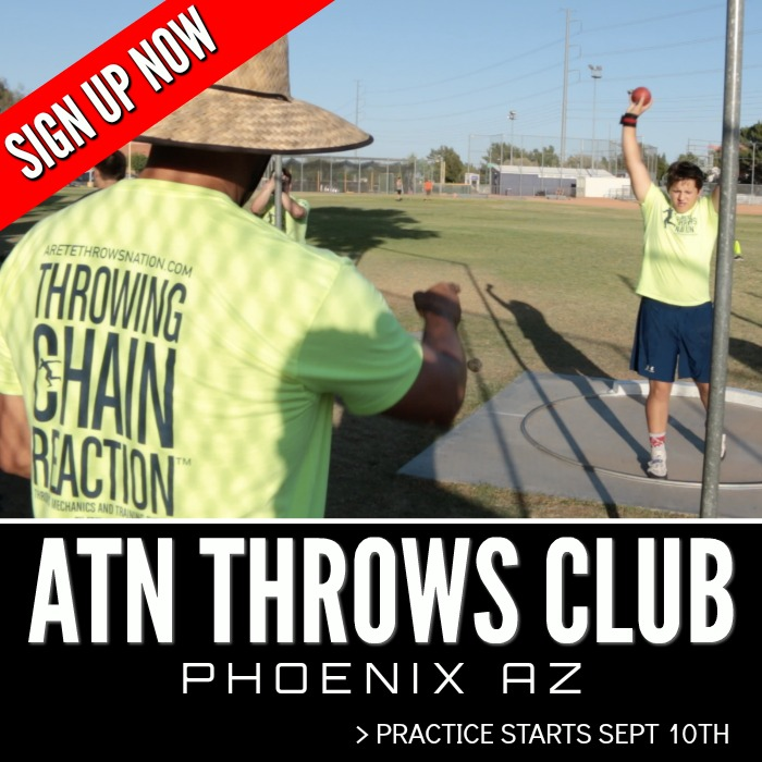 shot put and discus throws training phoenix AZ