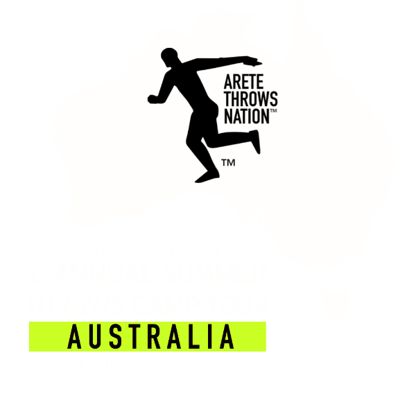 Shot put and discus summer camp Melbourne Brisbane Sydney Australia