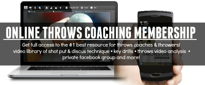 online shot put and discus coaching system