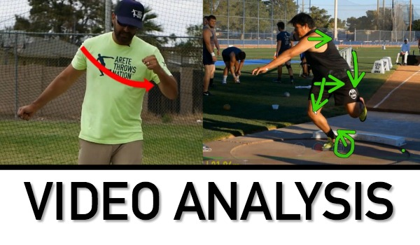 shot put discus throws technique analysis