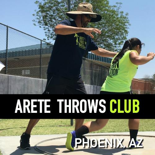 shot put and discus throws club Phoenix Arizona