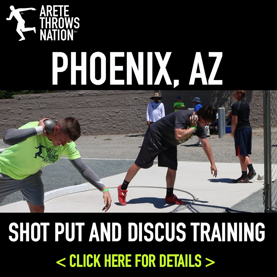 SHOT PUT AND DISCUS TRAINING AND COACHING PHOENIX MESA GILBERT SCOTTSDALE GLENDALE PEORIA YUMA SURPRISE GOODYEAR