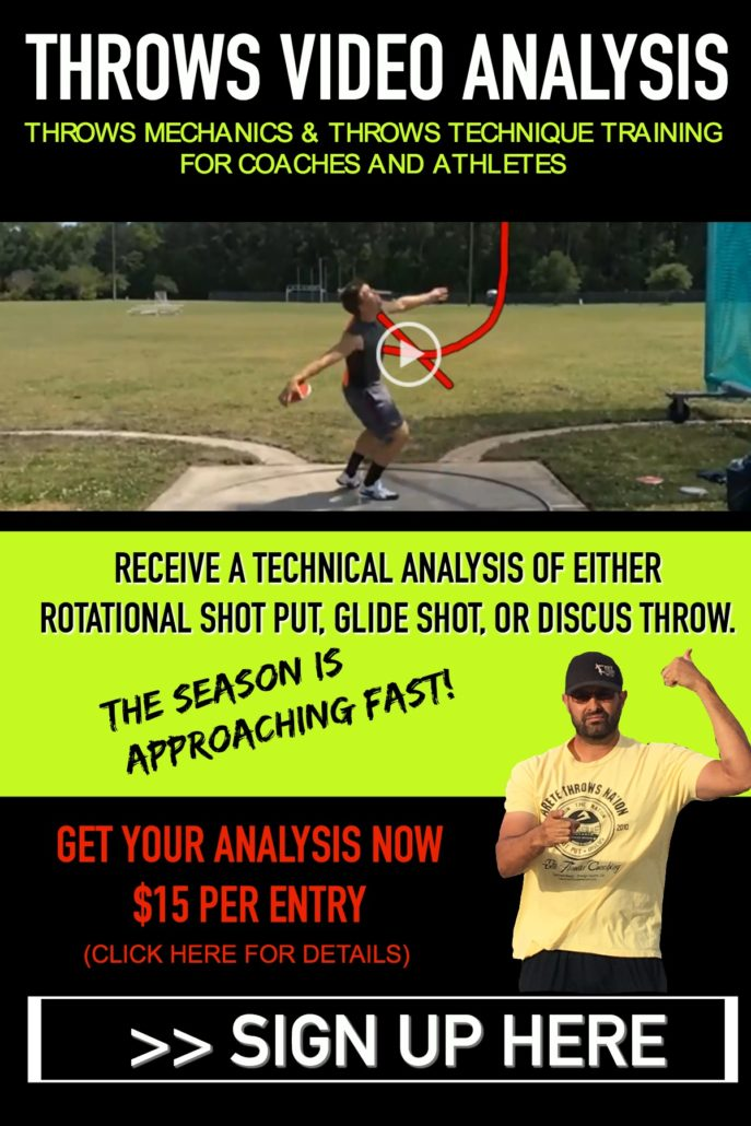 SHOT PUT AND DISCUS THROWS VIDOE ANALYSIS