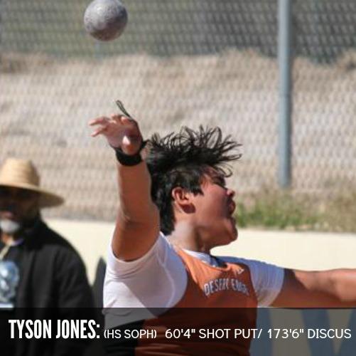 Tyson jones shot put and discus