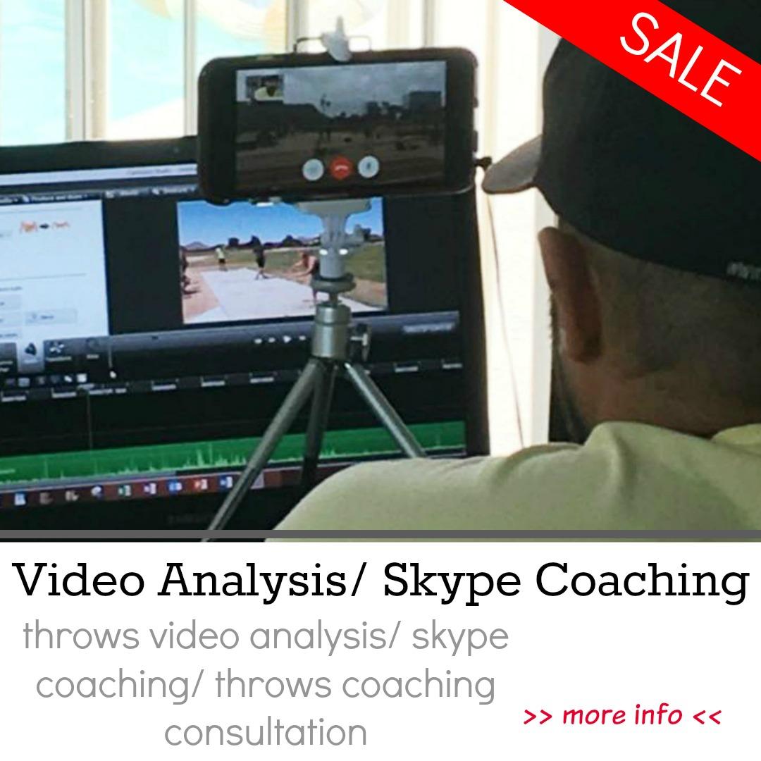 shot put and discus video analysis skype throws coaching