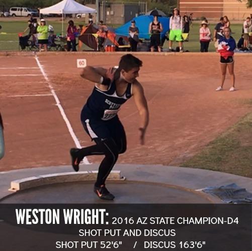 Weston wright shot put and discus