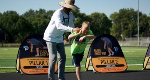 shot put glide shot summer camp Australia