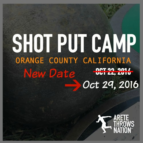 how to throw the shot put spin and glide camp orange county ca 2016