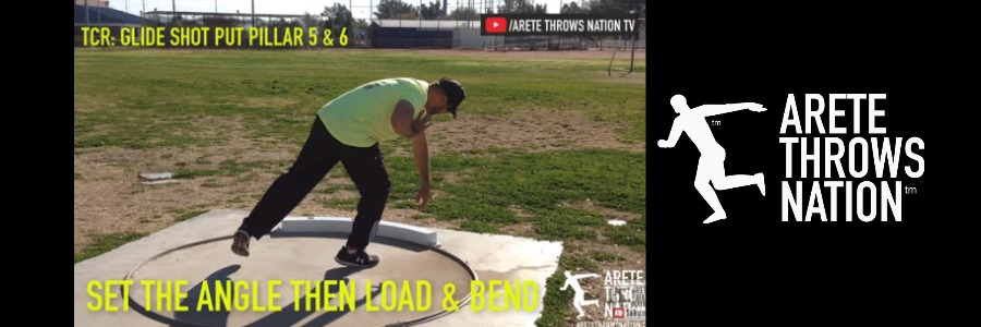 shot put glide technique setting up a power position
