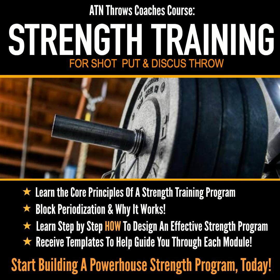 strength program course for shot put and discus throwers