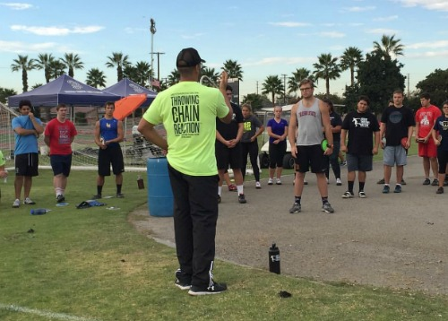 shot put and discus camp throws techniques