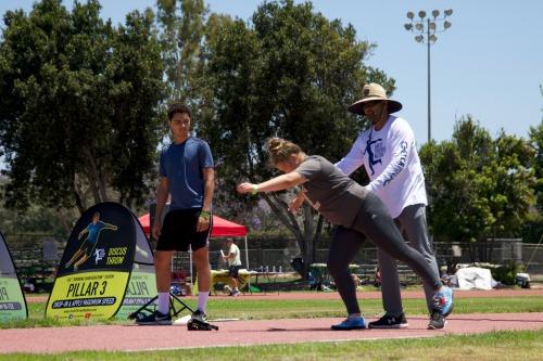 glide shot put technique coaching