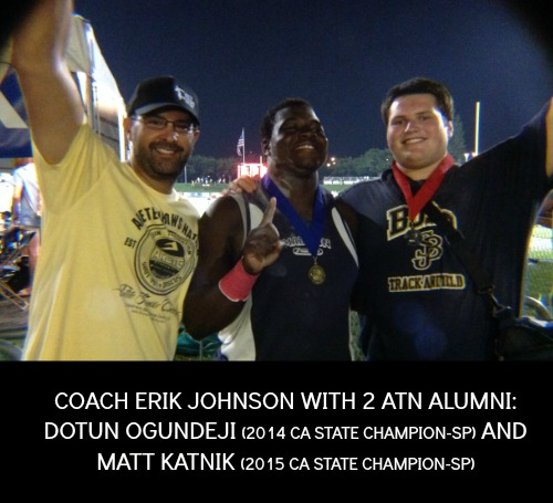coach erik johnson arete throws nation