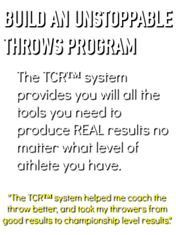 shot put and discus programs for throws coaches