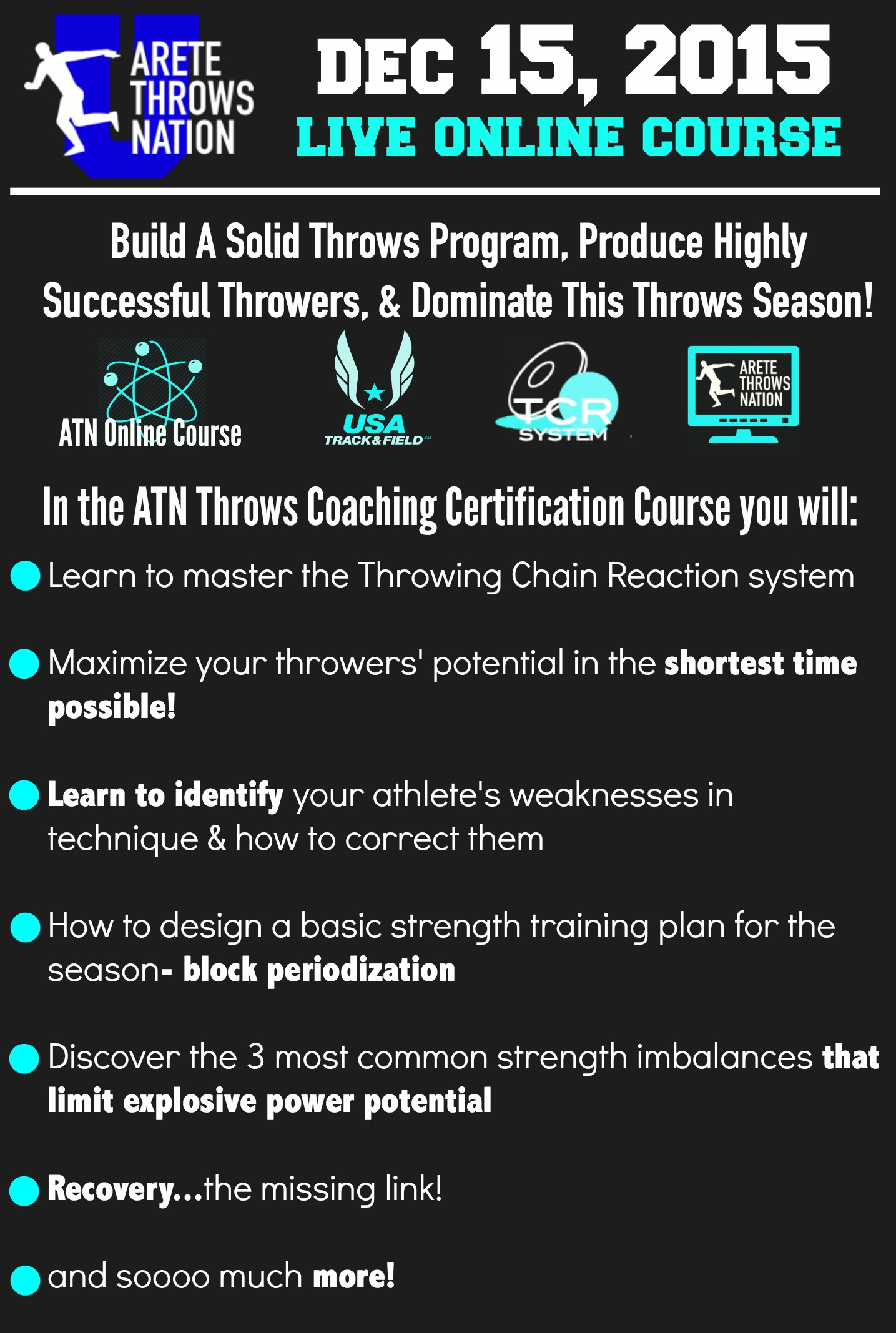 dec 15 online throws coaching certification - Shot Put and Discus ...