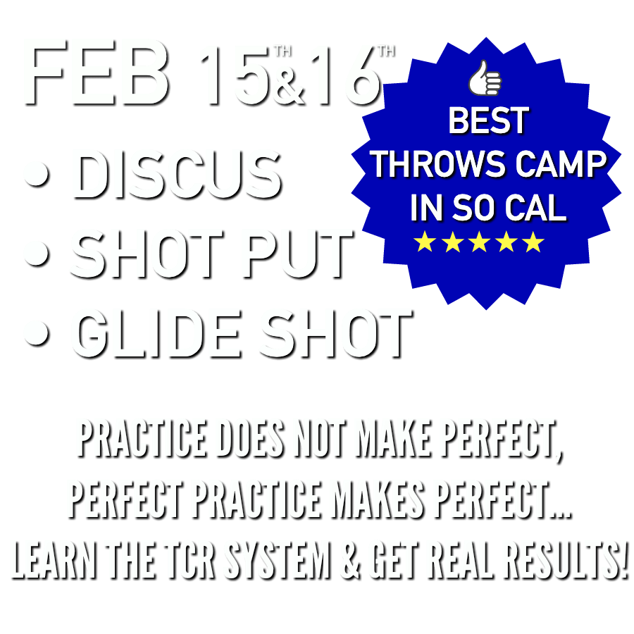 shot put and discus throws camp Feb 2020 So California