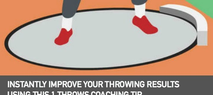 Heel-Toe position throws coaching tip for shot put and discus throws