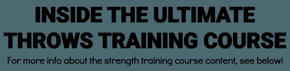 strength training program design