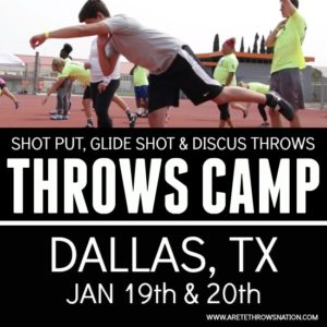 shot put and discus throws camp jan 2020 dallas texas