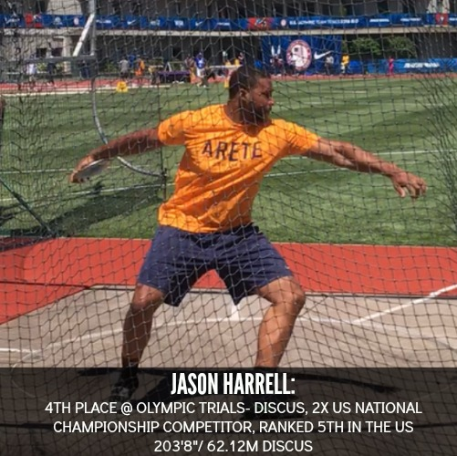 jason Harrell Arete Throws Nation Athlete 4th Olympic Trials 2016 discus